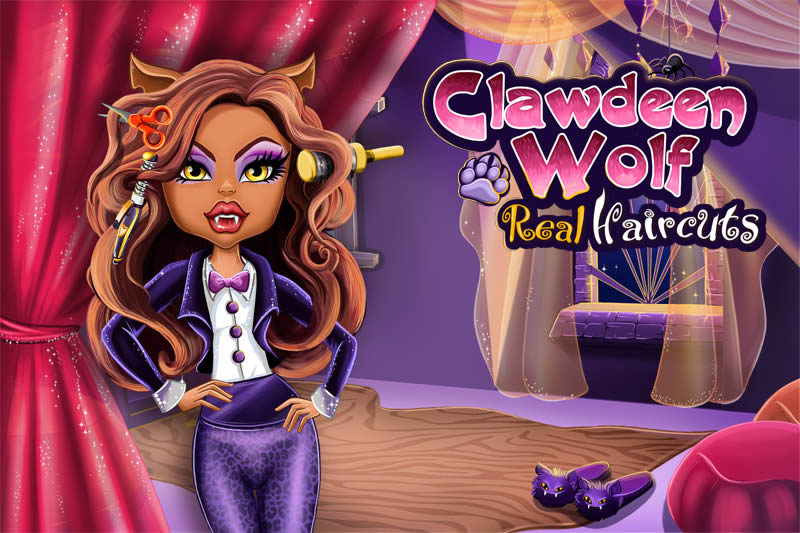 monster high real haircuts high clawdeen wolf real haircuts at friv2 1633 | clawdeen wolf real haircuts
